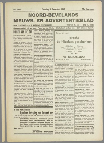 Noord-Bevelands Nieuws- en advertentieblad 1948-12-04