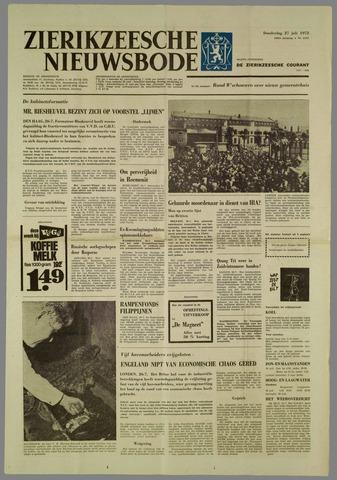 Zierikzeesche Nieuwsbode 1972-07-27