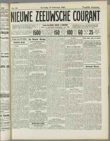 Nieuwe Zeeuwsche Courant 1916-02-19