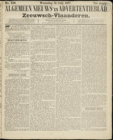 Ter Neuzensche Courant. Algemeen Nieuws- en Advertentieblad voor Zeeuwsch-Vlaanderen / Neuzensche Courant ... (idem) / (Algemeen) nieuws en advertentieblad voor Zeeuwsch-Vlaanderen 1867-07-31