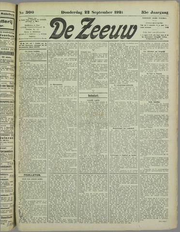 De Zeeuw. Christelijk-historisch nieuwsblad voor Zeeland 1921-09-22