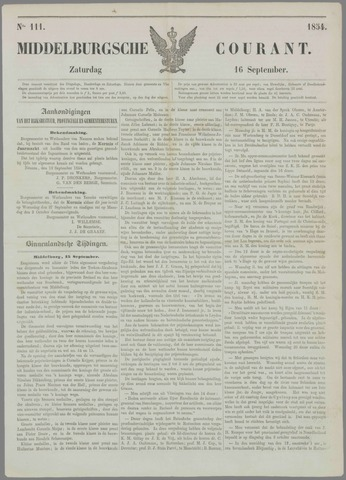 Middelburgsche Courant 1854-09-16