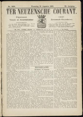Ter Neuzensche Courant. Algemeen Nieuws- en Advertentieblad voor Zeeuwsch-Vlaanderen / Neuzensche Courant ... (idem) / (Algemeen) nieuws en advertentieblad voor Zeeuwsch-Vlaanderen 1881-08-24
