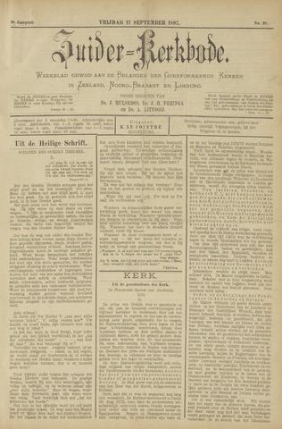 Zuider Kerkbode, Weekblad gewijd aan de belangen der gereformeerde kerken in Zeeland, Noord-Brabant en Limburg. 1897-09-17