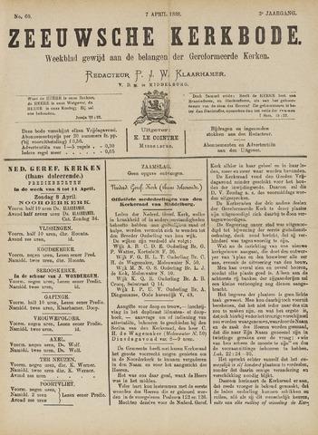 Zeeuwsche kerkbode, weekblad gewijd aan de belangen der gereformeerde kerken/ Zeeuwsch kerkblad 1888-04-07