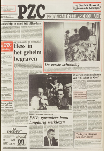 Provinciale Zeeuwse Courant 1987-08-25