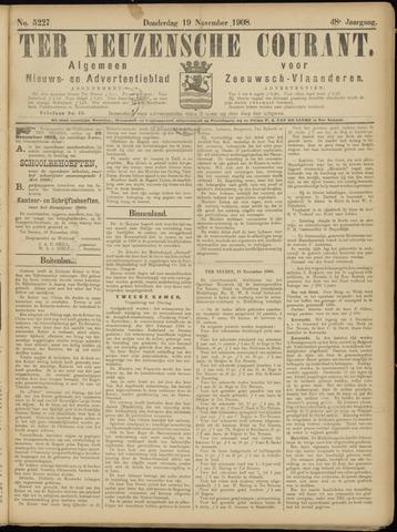 Ter Neuzensche Courant. Algemeen Nieuws- en Advertentieblad voor Zeeuwsch-Vlaanderen / Neuzensche Courant ... (idem) / (Algemeen) nieuws en advertentieblad voor Zeeuwsch-Vlaanderen 1908-11-19