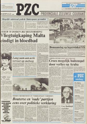 Provinciale Zeeuwse Courant 1985-11-25