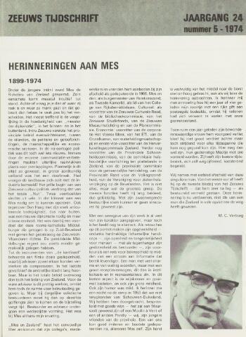 Zeeuws Tijdschrift 1974-09-01