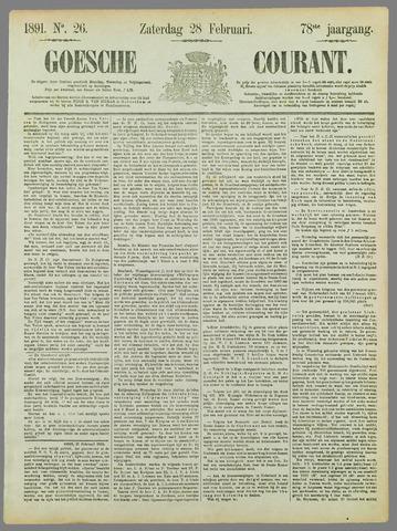 Goessche Courant 1891-02-28