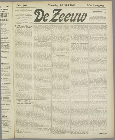 De Zeeuw. Christelijk-historisch nieuwsblad voor Zeeland 1916-05-29