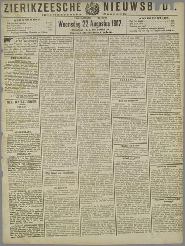Zierikzeesche Nieuwsbode 1917-08-22