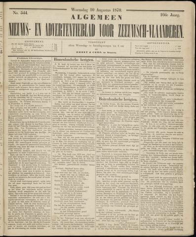 Ter Neuzensche Courant. Algemeen Nieuws- en Advertentieblad voor Zeeuwsch-Vlaanderen / Neuzensche Courant ... (idem) / (Algemeen) nieuws en advertentieblad voor Zeeuwsch-Vlaanderen 1870-08-10