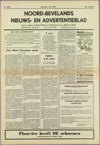 Noord-Bevelands Nieuws- en advertentieblad 1957-05-04