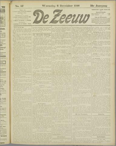 De Zeeuw. Christelijk-historisch nieuwsblad voor Zeeland 1916-12-06