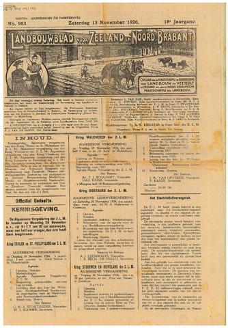 Zeeuwsch landbouwblad ... ZLM land- en tuinbouwblad 1926