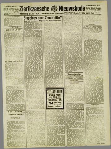 Zierikzeesche Nieuwsbode 1926-07-21