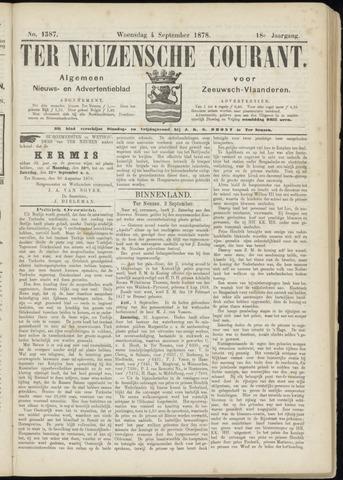 Ter Neuzensche Courant. Algemeen Nieuws- en Advertentieblad voor Zeeuwsch-Vlaanderen / Neuzensche Courant ... (idem) / (Algemeen) nieuws en advertentieblad voor Zeeuwsch-Vlaanderen 1878-09-04