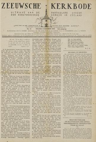 Zeeuwsche kerkbode, weekblad gewijd aan de belangen der gereformeerde kerken/ Zeeuwsch kerkblad 1945-10-05