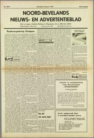 Noord-Bevelands Nieuws- en advertentieblad 1957-02-02