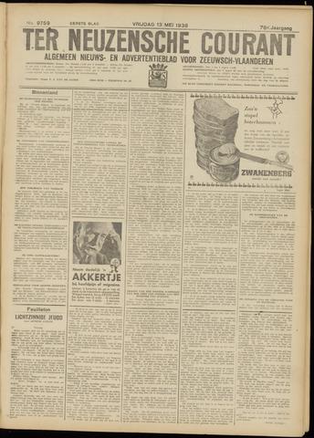 Ter Neuzensche Courant. Algemeen Nieuws- en Advertentieblad voor Zeeuwsch-Vlaanderen / Neuzensche Courant ... (idem) / (Algemeen) nieuws en advertentieblad voor Zeeuwsch-Vlaanderen 1938-05-13