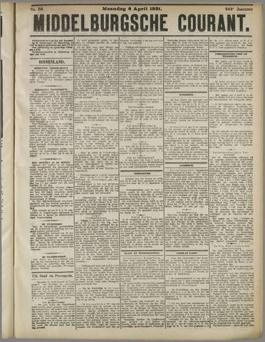 Middelburgsche Courant 1921-04-04