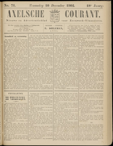 Axelsche Courant 1902-12-10