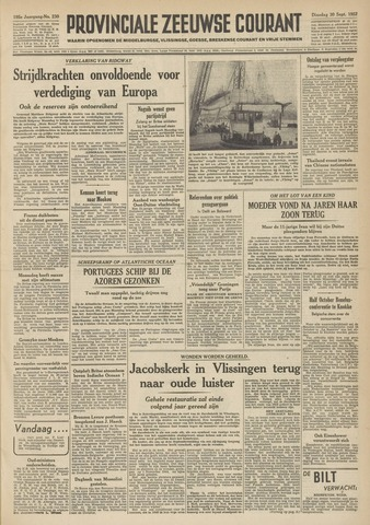 Provinciale Zeeuwse Courant 1952-09-30