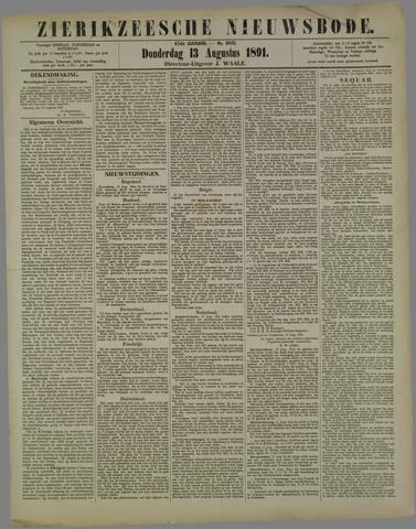 Zierikzeesche Nieuwsbode 1891-08-13