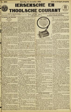 Ierseksche en Thoolsche Courant 1922-11-11