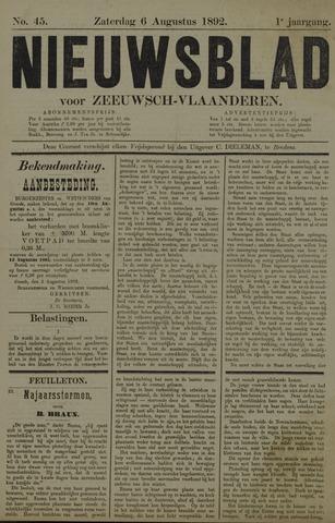 Nieuwsblad voor Zeeuwsch-Vlaanderen 1892-08-06