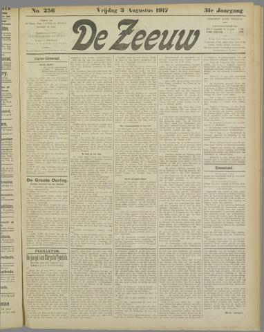 De Zeeuw. Christelijk-historisch nieuwsblad voor Zeeland 1917-08-03
