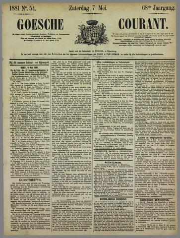 Goessche Courant 1881-05-07