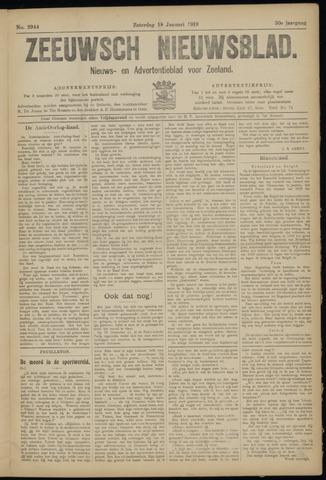 Ter Neuzensch Volksblad. Vrijzinnig nieuws- en advertentieblad voor Zeeuwsch- Vlaanderen / Zeeuwsch Nieuwsblad. Nieuws- en advertentieblad voor Zeeland 1919-01-18