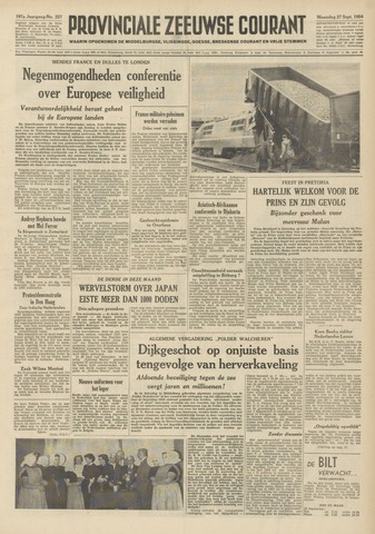Provinciale Zeeuwse Courant 1954-09-27