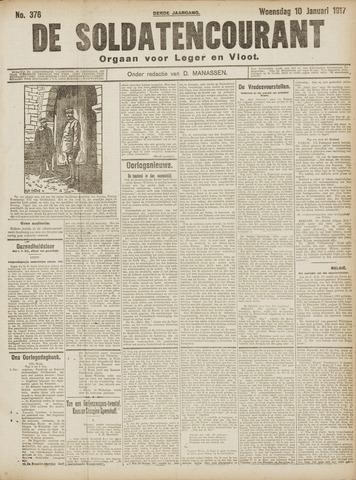 De Soldatencourant. Orgaan voor Leger en Vloot 1917-01-10