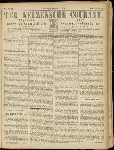 Ter Neuzensche Courant. Algemeen Nieuws- en Advertentieblad voor Zeeuwsch-Vlaanderen / Neuzensche Courant ... (idem) / (Algemeen) nieuws en advertentieblad voor Zeeuwsch-Vlaanderen 1904-10-04