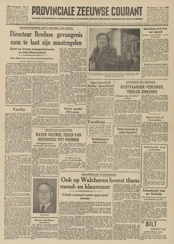 Provinciale Zeeuwse Courant 1953-01-07
