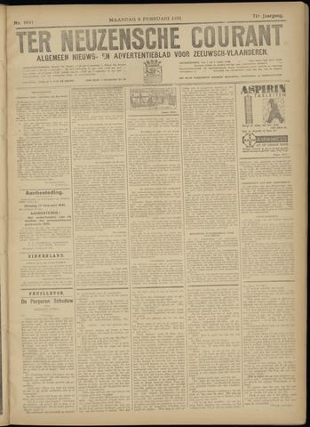 Ter Neuzensche Courant. Algemeen Nieuws- en Advertentieblad voor Zeeuwsch-Vlaanderen / Neuzensche Courant ... (idem) / (Algemeen) nieuws en advertentieblad voor Zeeuwsch-Vlaanderen 1931-02-09
