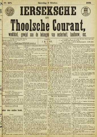 Ierseksche en Thoolsche Courant 1892-10-08