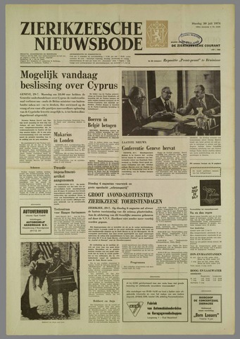 Zierikzeesche Nieuwsbode 1974-07-30