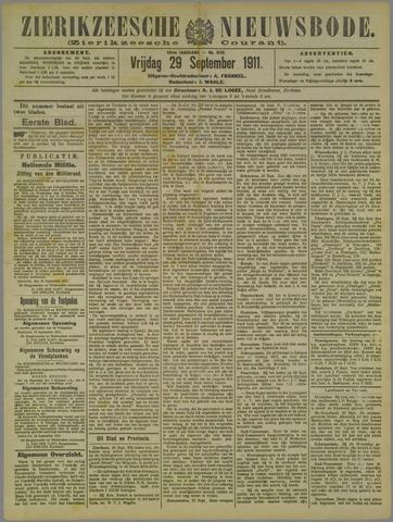 Zierikzeesche Nieuwsbode 1911-09-29