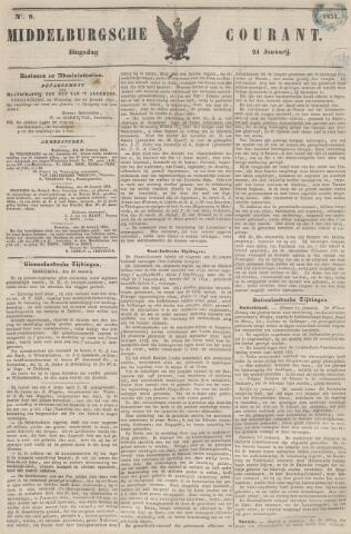 Middelburgsche Courant 1851-01-21