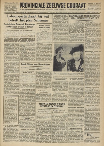 Provinciale Zeeuwse Courant 1950-06-19