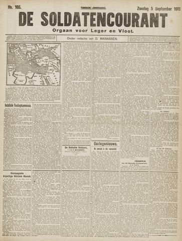 De Soldatencourant. Orgaan voor Leger en Vloot 1915-09-05