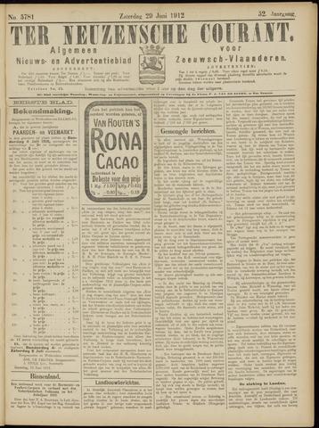 Ter Neuzensche Courant. Algemeen Nieuws- en Advertentieblad voor Zeeuwsch-Vlaanderen / Neuzensche Courant ... (idem) / (Algemeen) nieuws en advertentieblad voor Zeeuwsch-Vlaanderen 1912-06-29