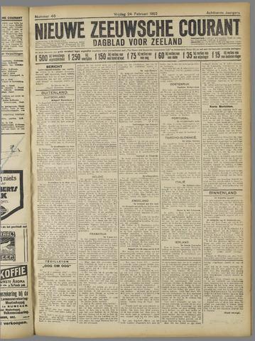 Nieuwe Zeeuwsche Courant 1922-02-24