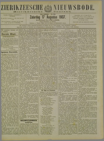 Zierikzeesche Nieuwsbode 1907-08-17