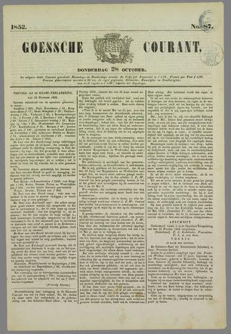 Goessche Courant 1852-10-28