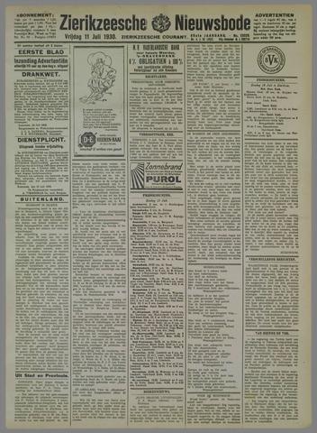 Zierikzeesche Nieuwsbode 1930-07-11